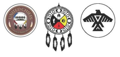 Logos of UCCMM, Wiikwemkoong and Anishnabe Nation