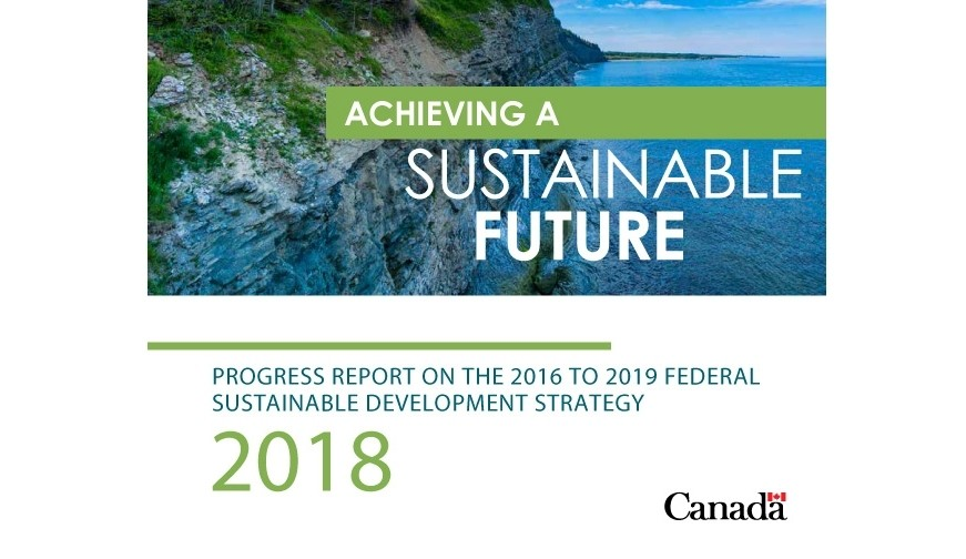 Report cover for Achieving a Sustainable Future