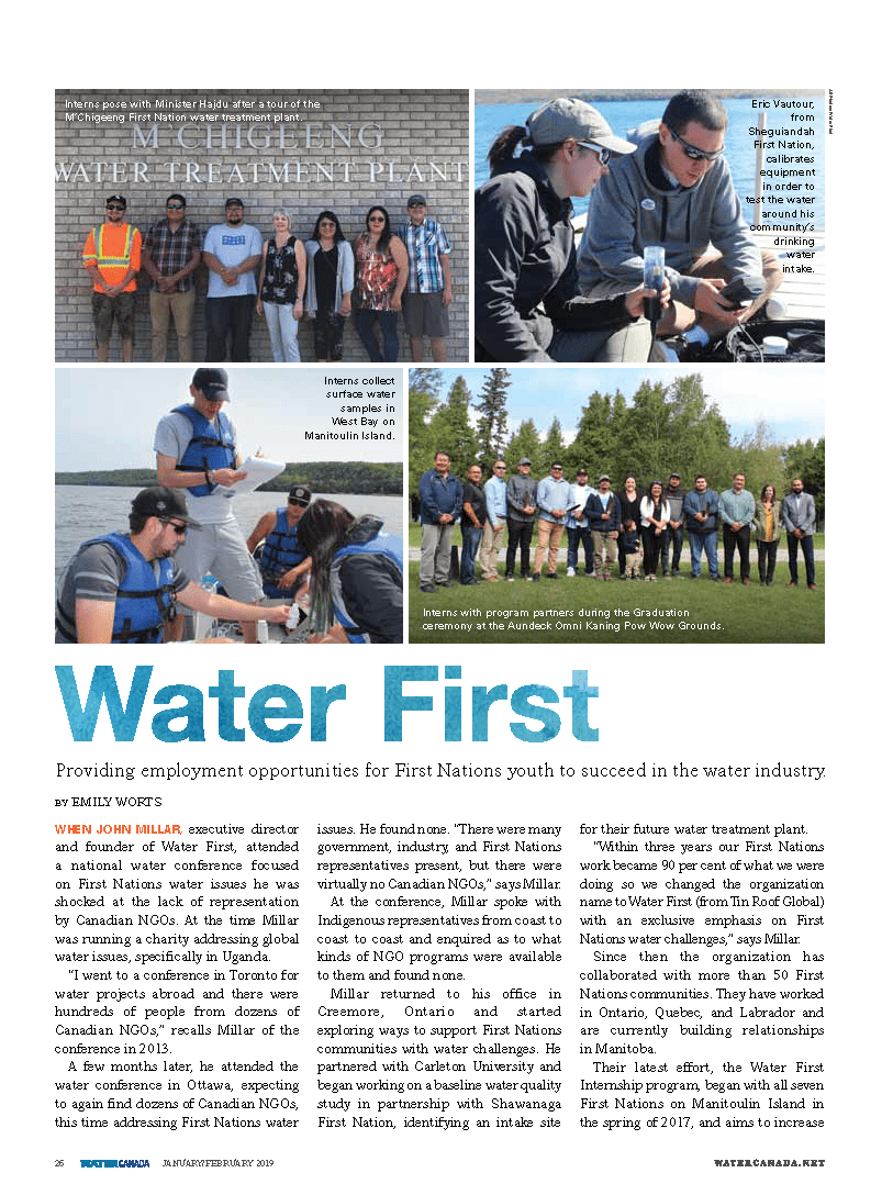 Water First article in Water Canada