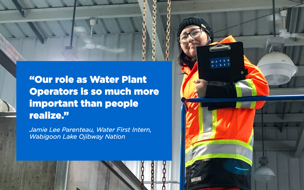 Jamie Lee Parenteau, Water First Intern, Wabigoon Lake Ojibway Nation