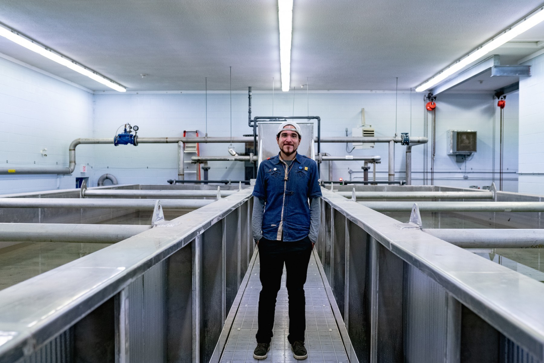 Eric standing in his water treatment plant